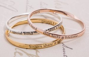 A perfect gift to show togetherness between siblings - Personalised Bangles