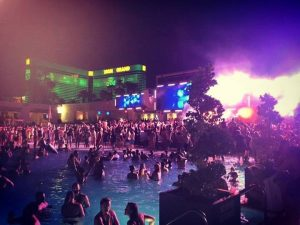 Wet Republic Water Party at Night