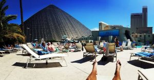 Gorgeous Weather Poolside at the Luxor Hotel
