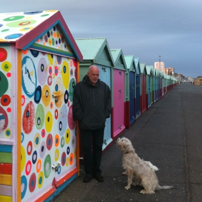 1 David Gilmour 2011 Brighton Beach Promenade with Dog