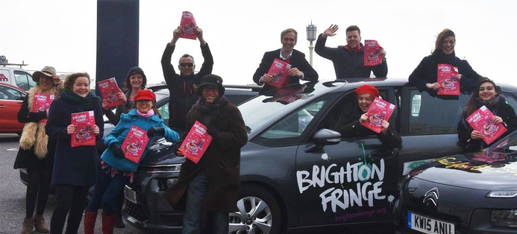 Brighton Fringe Festival's team with the new brochure.