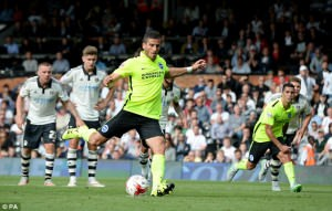 Tomer Hemed scored a stoppage-time winning penalty against Fulham at Craven Cottage