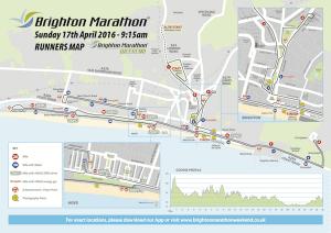 The Brighton Marathon 2016 course map