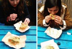 Brightoners tucking into YARDY street food