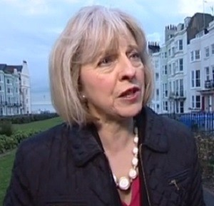 Theresa May speaking in Brighton - Photo: ITV