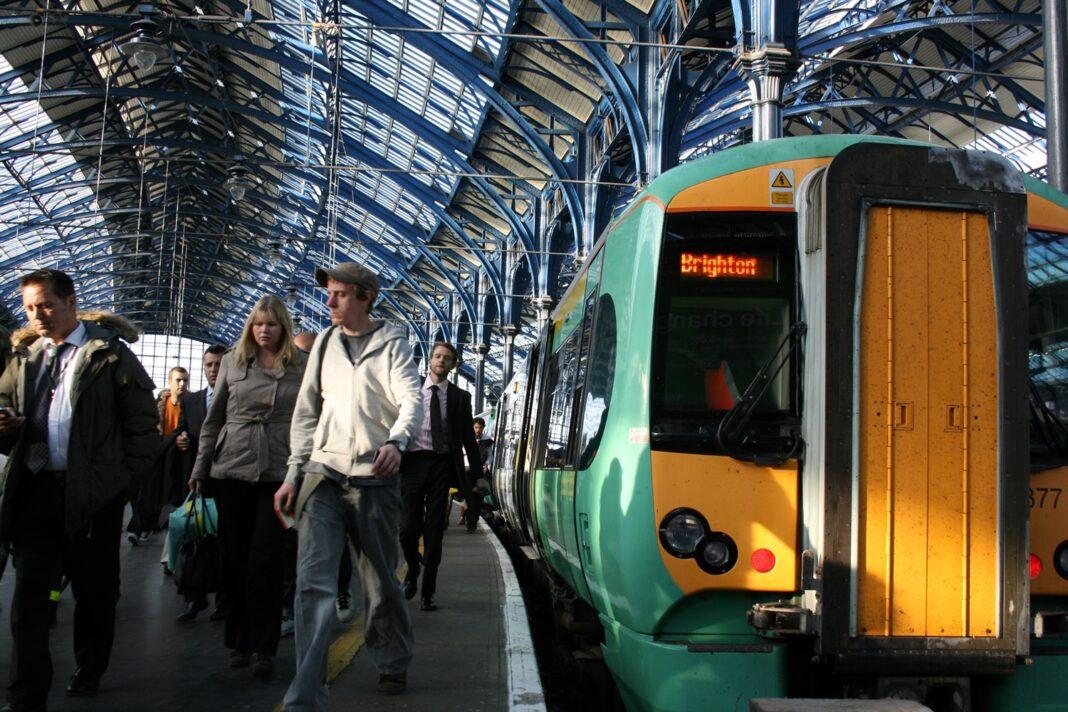 Train Pulling into Brighton
