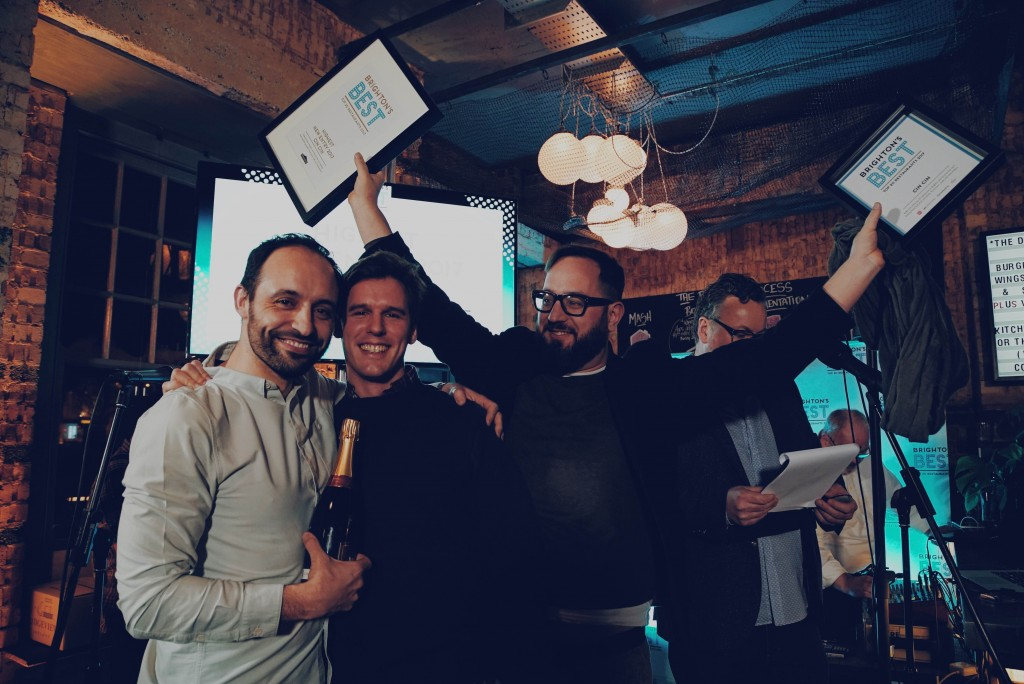 Cin Cin won Best Welcome and Highest New Entry L to R David Toscano (owner), Fabrizio Manconi (general manager), Jamie Halsall (head chef) Credit Roarke Pearce