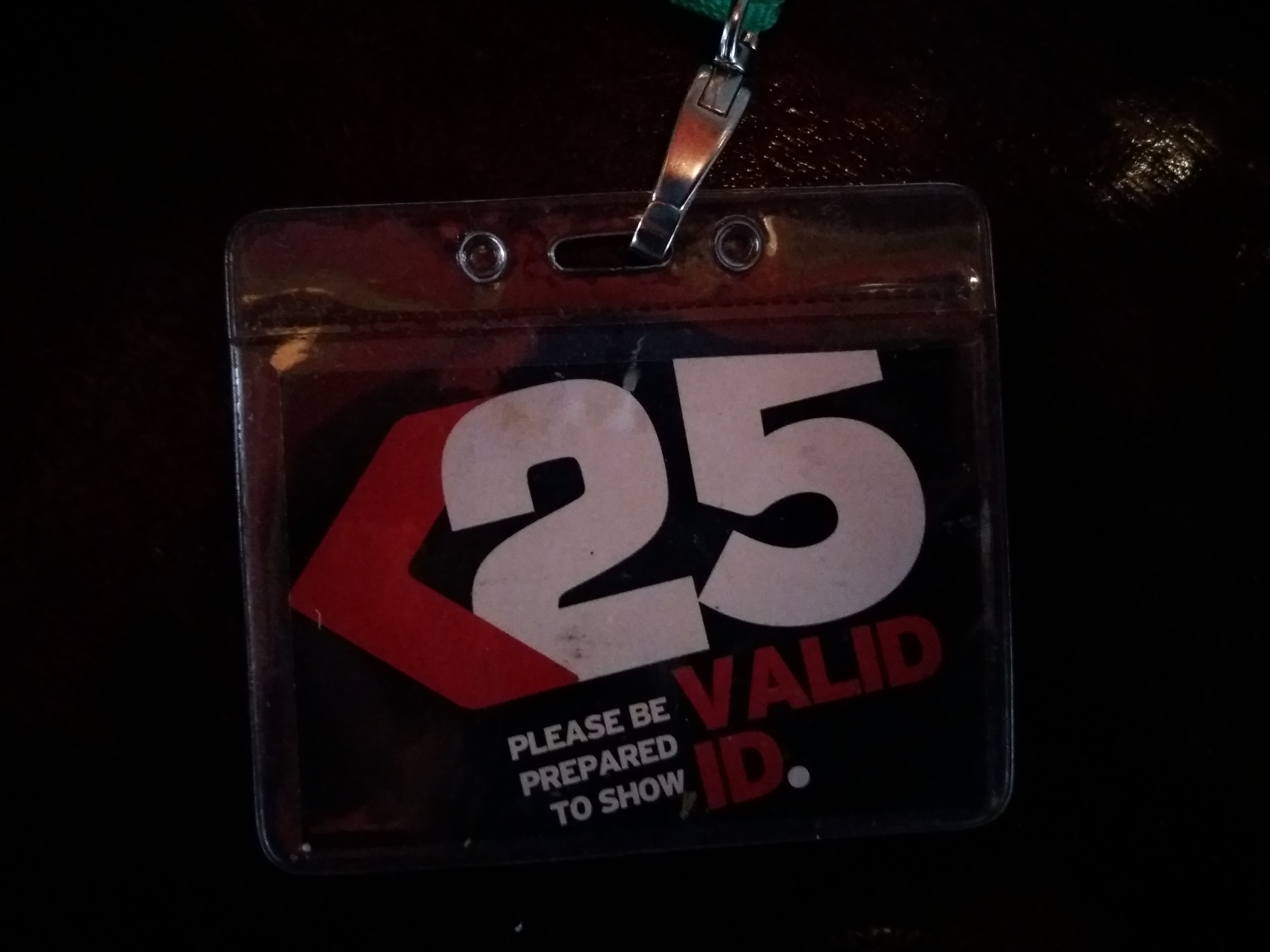 In many bars, staff members are wearing these lanyards to raise people's awareness.