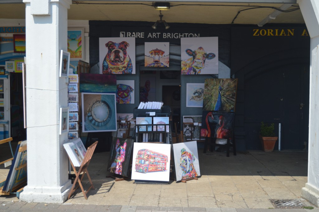 One of several art shops