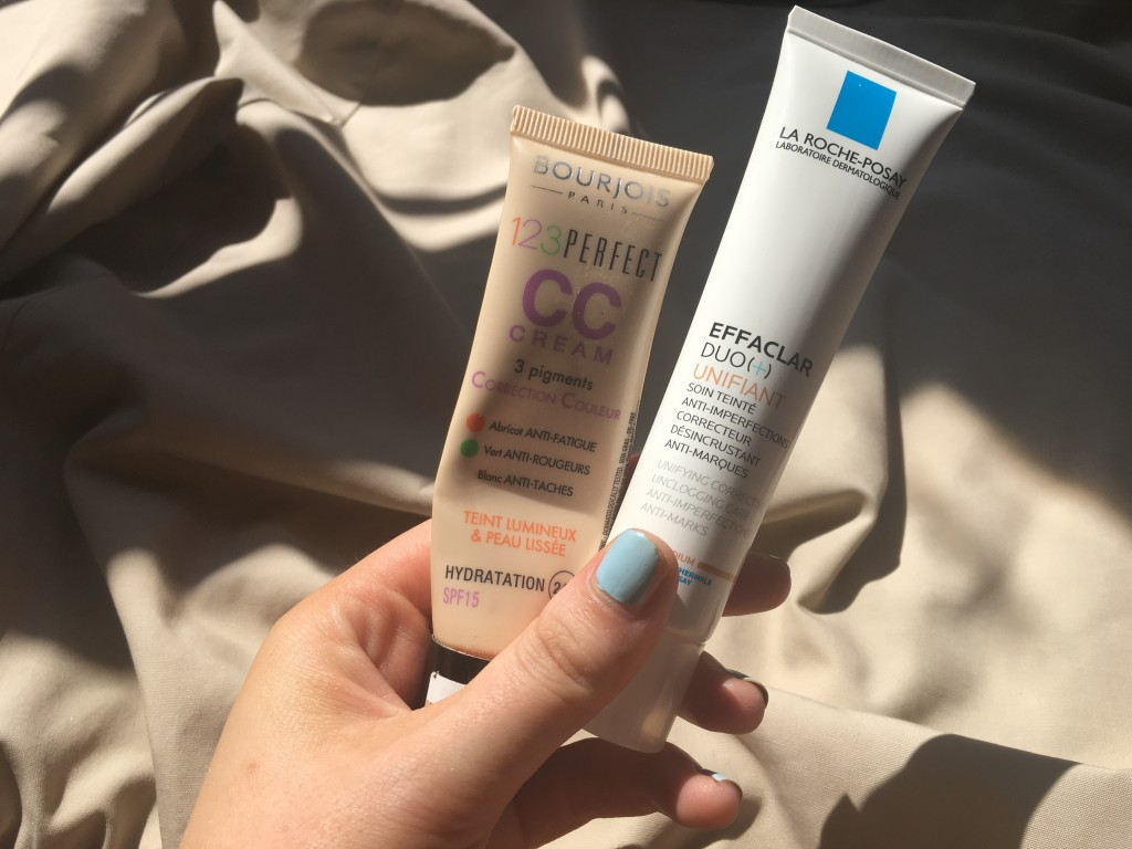 Left to right: Bourgeois 123 Perfect Colour Correcting Cream, RRP £9.99. La Roche Posay Effaclar Duo+ Unifant, RRP £16.50.