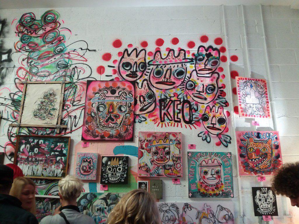 Assembled artworks by KEO.