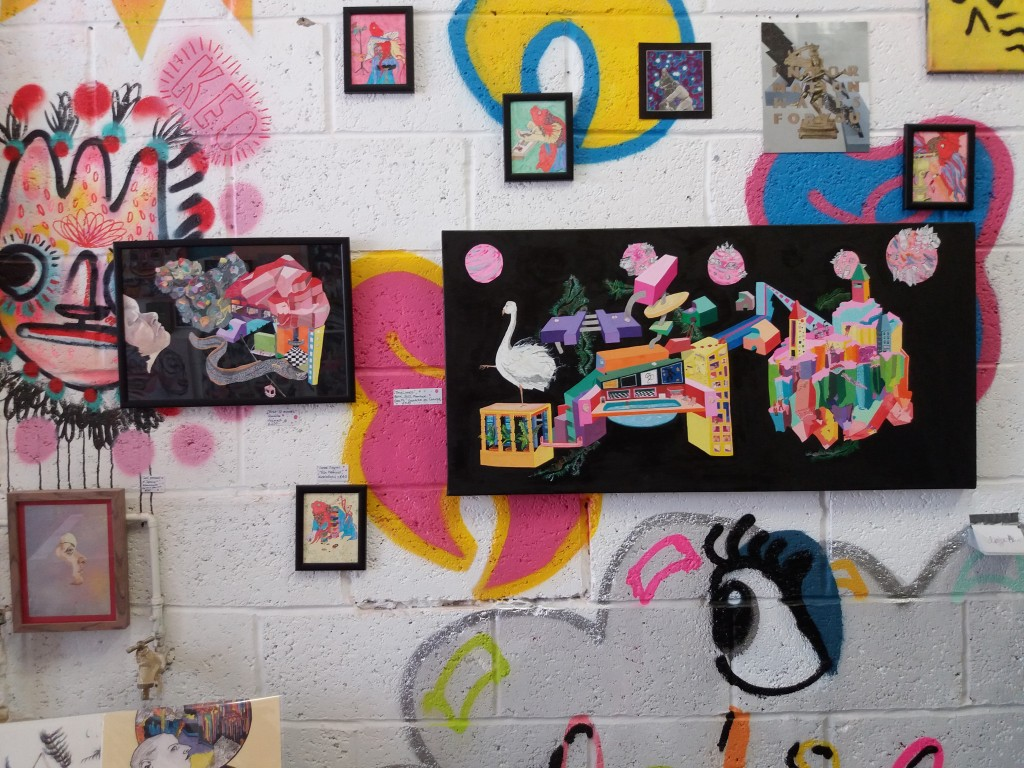 A collection of her artwork is currently exhibited at Studio 45.