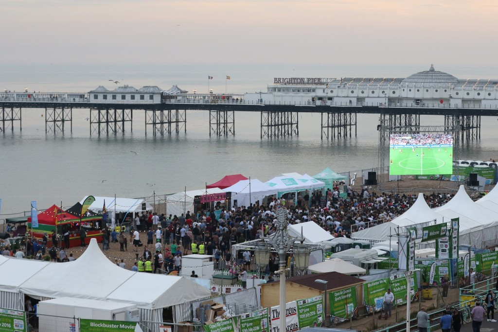 Last years live screening of the Engand vs France match. Credit @ Stuart Butcher.