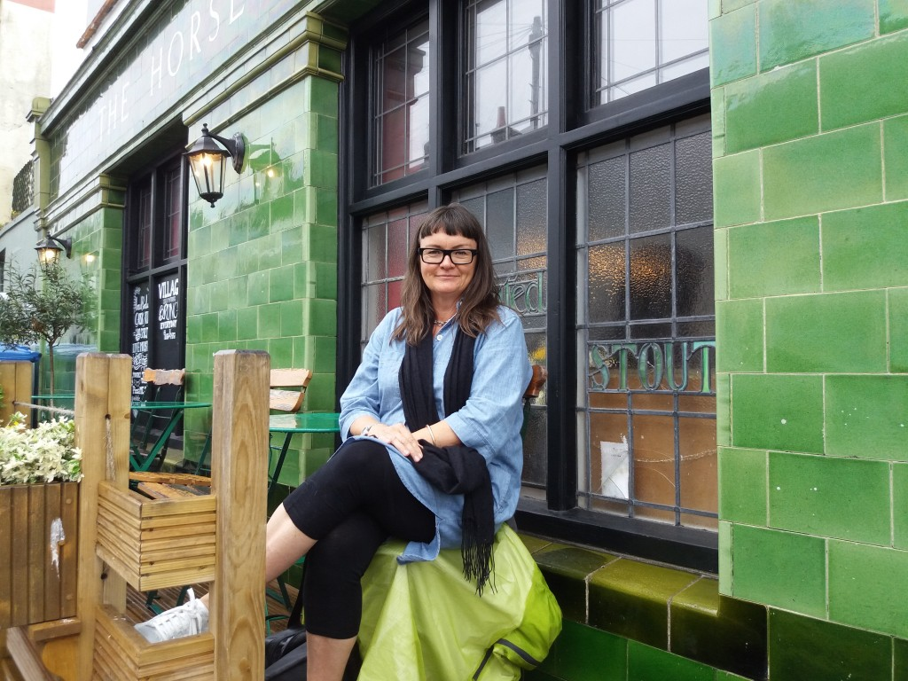 The Brighton-based author regularly goes abroad to research her novels. Credit @ Laura Bohrer.