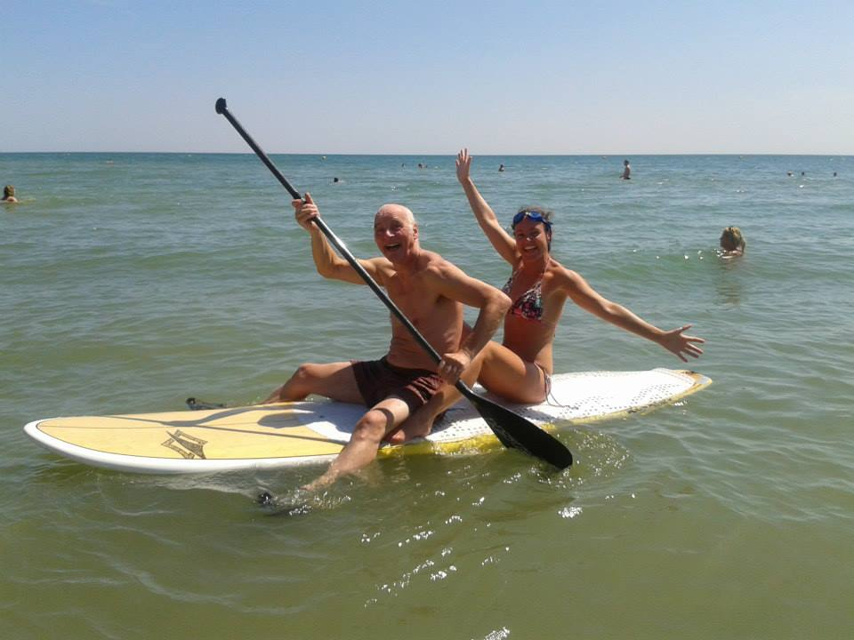She regularly goes out paddling with her dad who is aged 71.