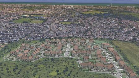 The city council recently secured 40 per cent affordable housing from private developers in applications to build around 200 homes combined at Overdown Rise, Hangleton (pictured) and Coombe Farm, Saltdean. But this has not always been the case with other applications.