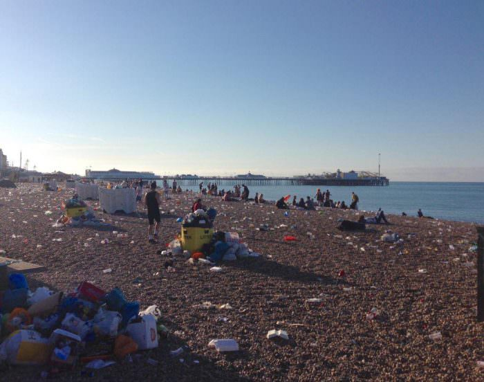 Glitter Not Litter: Pride Leaves Brighton Beach in Sorry State