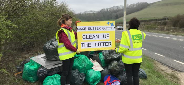 500 bin bags later and the A27 is finally clean