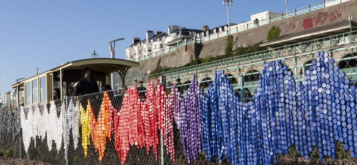 'A Drop in the Ocean' project highlights the staggering number of bottle caps on our seafront