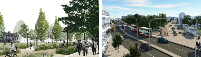 The council promises that the Valley Gardens project will make Brighton a more sustainable city