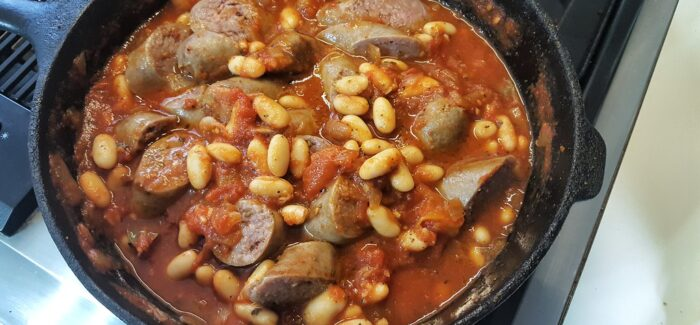 Back of the Cupboard Recipe #3 – Smokey Sausage and Bean Stew